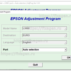 Adjustment program для Epson L3060 1