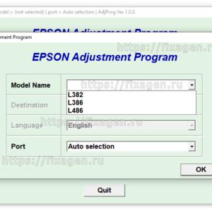 Adjustment program для Epson L382, L386, L486 1